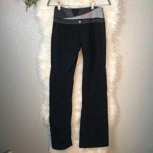 LULU LEMON Black Yoga Pants with Dark Grey Band 6